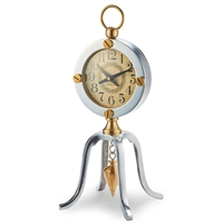 table clock brass aluminum brass screws hanging brass detail industrial