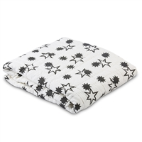 black white constellation stars baby quilt reversible
