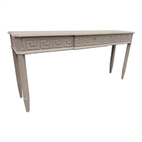 console table finish options drawer faux brass key