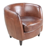 occasional chair traditional brown leather