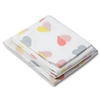 colorful hearts twin sheet set gray pink yellow red