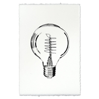 vintage bulb photography art print black white