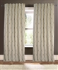 curtain drapery panels linen/cotton vertical embroidery