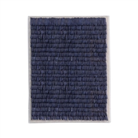 navy textured framed art