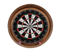 wood wine barrel head dartboard