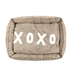 small canvas dog bed tan xoxo message