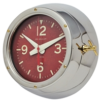 wall clock aluminum brass hardware cold war russian submarine deep sea clock glass lens solid brass knob