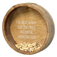 round wine barrel cork display round wall mount