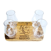 whiskey flight outline wood glass rustic