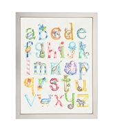rectangle watercolor art print abc's colorful