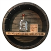 round bourbon barrel wall shelf whiskey quote
