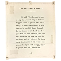 velveteen rabbit wall tarp cream