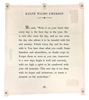 Ralph Waldo Emerson passage wall art canvas tarp off white inspirational encouragement