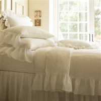 bedding white linen duvet twin queen king sham standard euro king boudoir pillow ruffle