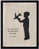 children's art silhouette young boy lad airplane border C.S. Lewis archival paper quote