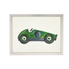 Wall art watercolor green derby race car green kid's Antique Curiosities