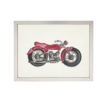 wall art watercolor red motorcycle Antique Curiosities