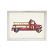 Red Fire Truck Art - USA-Made Fire Truck Water Color Art | BSEID