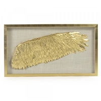 Art Golden Painted Wing Shadowbox Frame Right