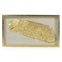 Art Golden Painted Wing Shadowbox Frame Left