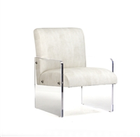Sleek Acrylic + Leather Chair - Luxury Designer Seating