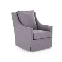 Swivel Chair - Carrie - Grey Cotton/Linen