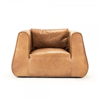 chair arm triangular leather tan low seat contemporary