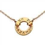 Numeros™ Circle Pendant -18K Yellow
