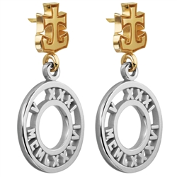 Numeros™ Earrings 14K Yellow & Sterling