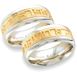 Wide Two-Tone Expres™ Ring - 14K Yellow & PūrLuxium™