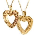 Floral Expres™ Heart -  14K Yellow or White