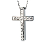 Hidden Treasures™ Diamond Cross - 14K White