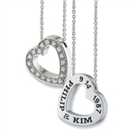 Hidden Treasures™ Diamond Heart - Platinum