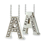 Hidden Treasures™ Diamond Birthday Initial (Category 1) - 14K White