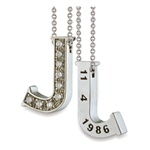 Hidden Treasures™ Diamond Birthday Initial (Category 2) - Platinum