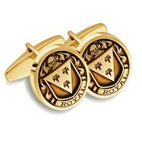 Family Crest Cuff Links - 14K Yellow or White