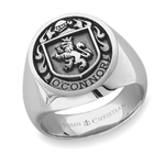 Man's Family Crest Ring - Platinum