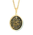 Family Crest Pendant - 18K Yellow