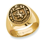 Lady's Family Crest Ring - 14K Yellow or White