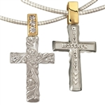 Mother's Cross Necklace Sterling & Gold