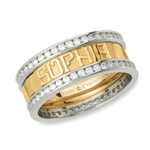 Continuous Life™ Diamond Eternity Band - 18K & Platinum