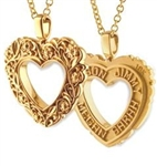 Floral Continuous Life™ Heart - 18K Yellow