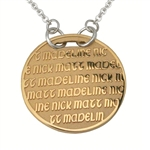 Continuous Life™ GoldPage Circle Necklace