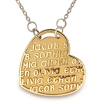 Continuous Life™ GoldPage Heart Necklace