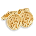 MMonogram Cuff Links - 14K Yellow or White
