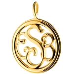 Monogram Medallion Necklace - 18K Yellow