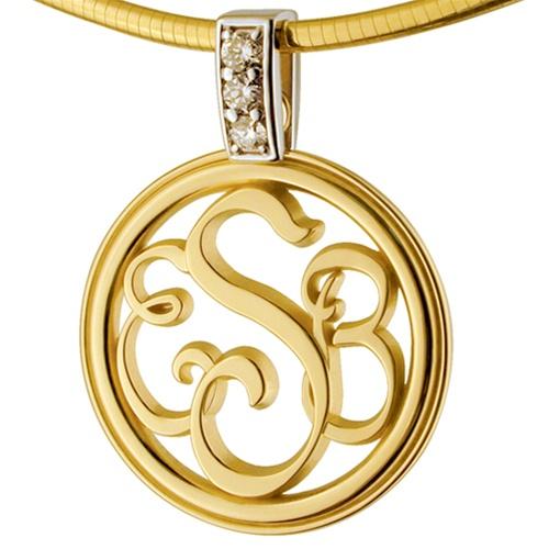 Monogram medallion two tone diamond 14k gold necklace monogram medallion two tone diamond 14k gold necklace view larger photo email aloadofball Gallery