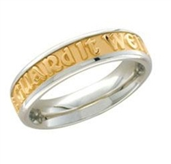 Medium Two-Tone Posey™ Ring - 14K Yellow & White