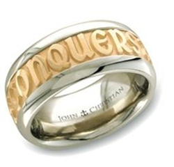 PoWide Gold Two-Tone Posey™ Ring - 14K & Platinum