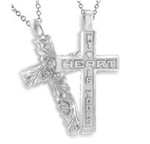 Sculpted Posey™ Cross - Platinum